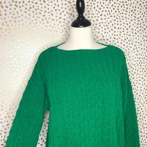 J.Jill oversized chenille cable knit sweater
